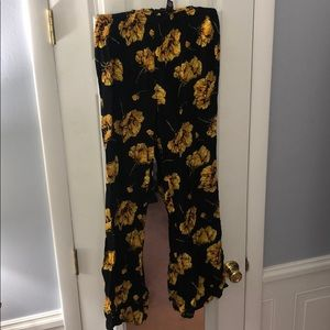 bell bottom flowered flows pants
